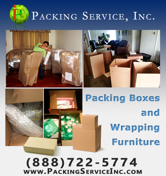 Packing / Unpacking Boxes And Shrink Wrapping Furniture. Packing Service,  Inc. ...